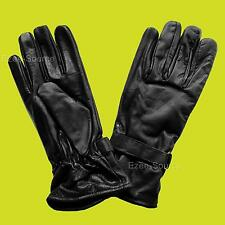 X-LONG MENS WOMENS GENUINE LEATHER WINTER DRIVING GLOVES w/VELCRO CLOSURE - K2B