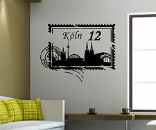 Wall Decal Skyline Cologne City Stamps Stamp Brand wall decal 5M209