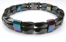Magnetic Clasp Magnetic Rainbow Hematite Bracelet Anklet Super Power 2 row AAA+