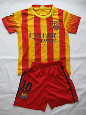 KIDS #10 MESSI FC BARCELONA SOCCER JERSEY & SHORT YOUTH SIZES AWAY MAILLOT
