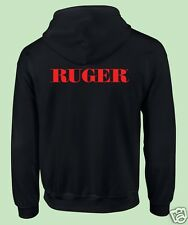 Zippered Hooded Sweat Shirt, Fire Arms, Guns, Political, 2nd Amendment, Ruger