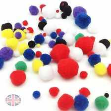 Mixed Craft Pom Poms - Choose style - Mixed Sizes and Colours UK Seller