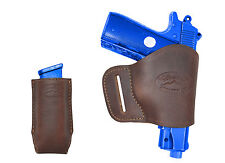 NEW Barsony Brown Leather Yaqui Holster + Mag Pouch Ruger, Kimber 380 UltraComp