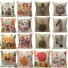 European Style Printed Pillow Case Cotton linen Cushion Cover Decor Square New