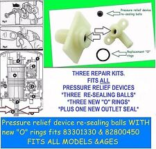 SIX Pressure Relief Device (PRD) rubber ballseals. Fits Triton OR Wickes showers
