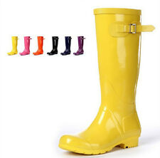 Cute women's Candy color fashion rain boots tall canister woman boots overshoes