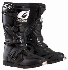 O'NEAL RIDER BOOTS MX YOUTH DIRT BIKE MOTORCROSS BLACK OFF ROAD ATV UTV KIDS