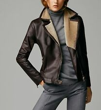 MASSIMO DUTTI WOMAN(ZARA COMPANY) NEW SEASON LEATHER JACKET