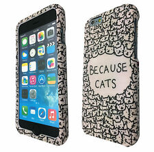 iphone 6 / iphone 4 5 5C Because Cute Cats Sketch Cat Case Full Cover Front&Back
