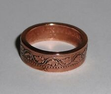 Coin Ring made from 100 year old Canadian large cent  6-13
