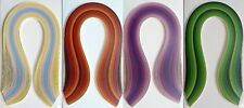 EXTRA LONG Quilling Papers 3mm Paper MIX Colours (150 Strips x 500mm 130gsm)