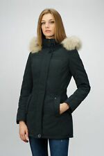 F32 ITALY TOP QUALITY FUR WINTER DOWN Jacket COAT Parka Piumino Pellicia Size M