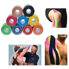 1 Roll Kinesiology Muscle Tape Sports Athletic Elastic Physio Therapeutic 5cmX5m