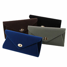 Soft Touch Velvet Envelope Clutch Women Ladies Purse Evening Party Bag