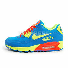 Nike Air Max 90 BG [307793-410] NSW Running Photo Blue/Volt-Hyper Crimson