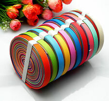 """10/20yards 3/8"""" mixed 10 Style sewing satin grosgrain ribbon lot wholesale A-33"""