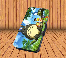 Studio Ghibli My Neighbour Totoro For Faux Leather Flip iPhone & Samsung Case