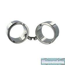 Chrome Wrist Shackles Small Medium Large Sexy Bondage BDSM Fetish Slave Costume