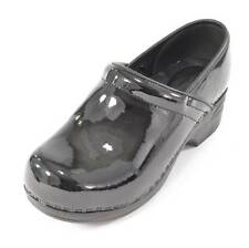 Croft & Barrow Shoes Casual Clogs Nurse Work Heel Winter Black Patent Shoe NEW