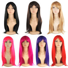 "18"" Ladies Stylish Full  Wigs Long Straight Cosplay Costume Fancy Dress Wig"