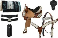 """8 Piece Western Barrel Saddle Package 14"""" 15"""" or 16"""" NEW by Double T HORSE TACK"""