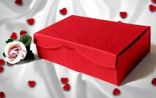Red * Wedding Cake Slice Sweet Chocolate Favours Boxes Birthday Party Gift