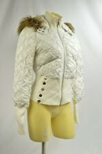 BEBE coat jacket puffer down white removable hood 172208