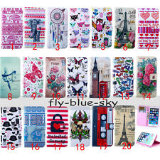 For Samsung PU Leather Magnetic Painting Holder Wallet Flip Card Case Stand