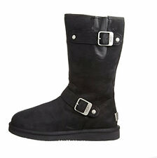 UGG WOMENS Sutter Boot   Black Leather  1005374