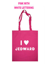 I LOVE HEART JEDWARD SHOPPING SCHOOL TOTE BAG BIG BROTHER CELEBRITY JUICE FACTOR