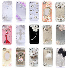 NEW Bling diamante 3D cristallo Cover Custodia per iphone 5 5S