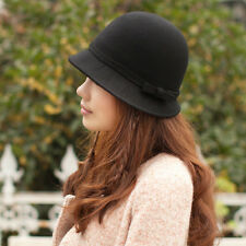 2014 Women's Fashion Hat Wool Dress Church Cloche Hat Bucket Winter Floral Hat
