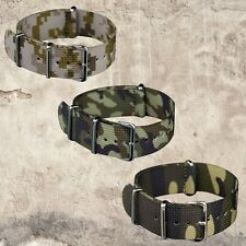 INFANTRY Military Watch Nylon Fabric Canvas Strap 4 Rings G10 Band Diver Strong