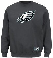 Philadelphia Eagles MENS Sweatshirt Pullover Crew Heavyweight Charcoal