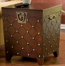 Coffee & End Table Set Storage Living Room Furniture Trunk Modern Pine Wood NEW