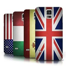 Phone Slim Case Hard Back Cover Sleeve for Samsung Galaxy S5 / Country Flags