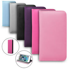 FLAPLESS LEATHER FLIP WALLET CASE COVER FOR IPHONE 4 5 5S GALAXY S4 S5 NOTE 2 3