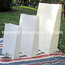 x12, 50,100 White Paper Gift Wedding Party Favor bags_Lunch candy buffet bag