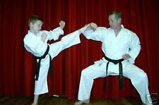 KARATE SUIT & WHITE BELT KIDS 130cms CHEAPEST ON E BAY - BY MASUTA- NEW!