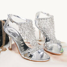 Royal Pretty Elegant Diamond Wedding Party Banquet Women High Heels