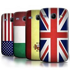 Phone Case Back Cover/Skin Sleeve for Samsung Galaxy Core / World Country Flags
