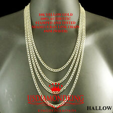 10K AUTHENTIC REAL YELLOW GOLD CUBAN CURB LINK CHAIN NECKLACE 4 MM 16~24 INCH