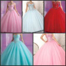 2014 New Long Prom Ball Party Gown Evening Bridesmaid Dress Size 6 8 10 12 14 16