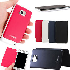 Leather Flip Back Battery Case Cover Skin For Samsung Galaxy S2 II i9100 Hot
