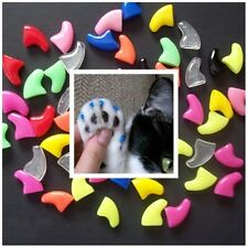 Size XS Kitten 20 Soft Nail Caps Cat Dog Claws + Adhesive + Glue Tip USA SELLER
