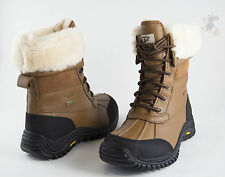 Women UGG Australia Adirondack Boot II 5469 Otter Leather 100% Authentic B. New