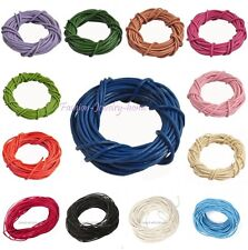 3/5Meters Real Leather Necklace Charms Rope String Cord wire Jewelry Findings
