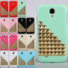 For Samsung Galaxy S4 I9500 Punk Style Nails Rivets 3D Studs Case Fitted Cover