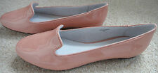 BN TOPSHOP PINKY NUDE SHINY SLIPPER PUMP SHOES SIZES 3-9 RRP £28