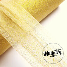 Glitter Tulle Netting Fabric for  Millinery & Weddings Ivory Gold Silver Red